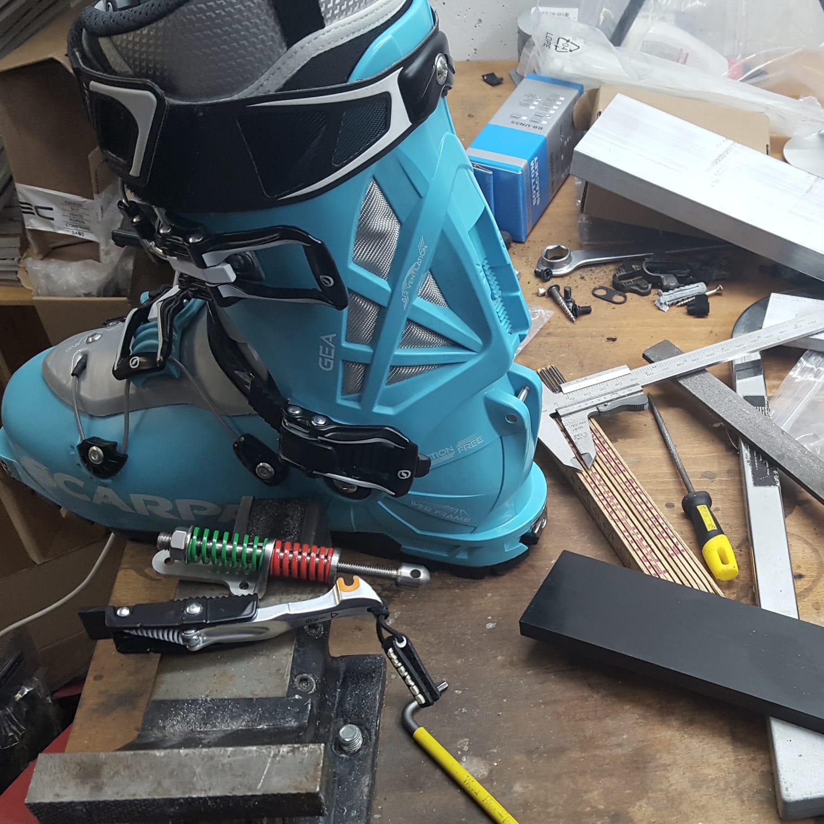 Scarpa Gea AT-Boot Modification
