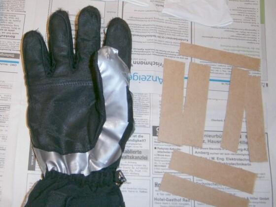 Handschuhe mit Sika behandeln